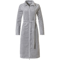 Pastunette soft fleece dressinggown with zip 'criss cross weave'
