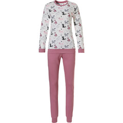 Rebelle long sleeve cotton pyjama set 'dreamy kitty cats'