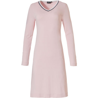 Pastunette Deluxe 'feminine society' in the pink , grey & white long sleeve viscose-elastane nightdress