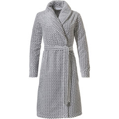 Pastunette soft fleece wrap-over dressinggown 'criss cross weave'