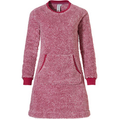 Rebelle homedress van zachte fleece 'fluffy pink'