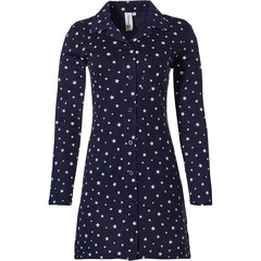 Rebelle long sleeve full button nightshirt 'all starry ★ ★ ★'