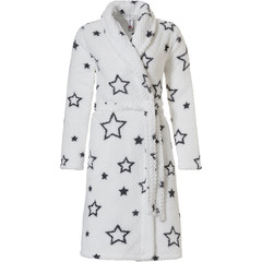Rebelle coral fleece robe 'star it up'