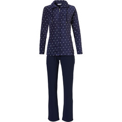 Pastunette ladies coral fleece home suit with full zip 'a little bit dotty' and long sweat pants