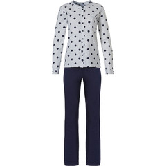 Pastunette ladies full button cotton pyjama set 'dots & stripes'