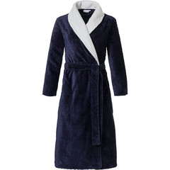 Pastunette ladies fleece dressing gown 'hint of broken zig-zag'