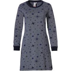 Rebelle dames nachthemd met lange mouwen en zakken '★ stars at night ★'