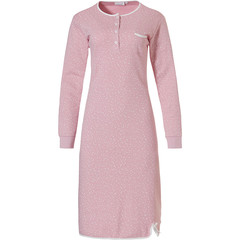 Pastunette ladies cotton interlock nightdress 'allover dottiness'