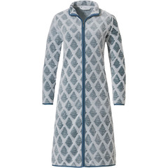 Pastunette soft fleece morning gown 'symmetrical link of diamonds'