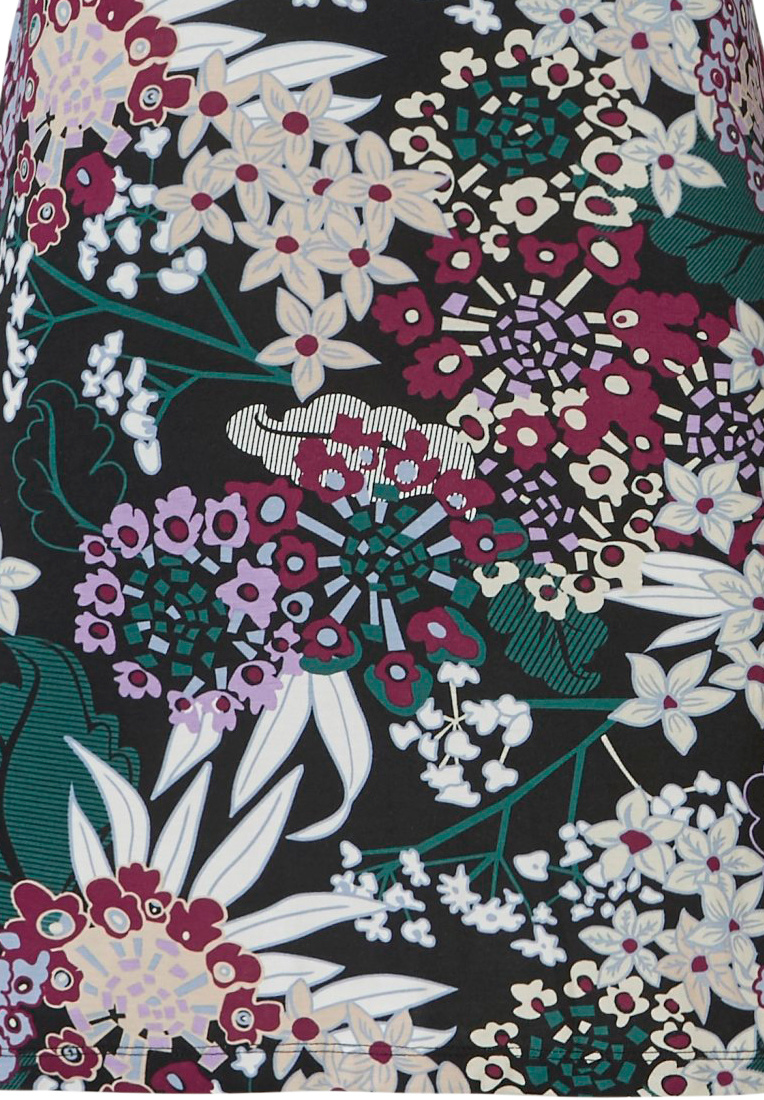 Pastunette Deluxe 'intense floral'  green & red long sleeve 95% modal floral night- & homedress