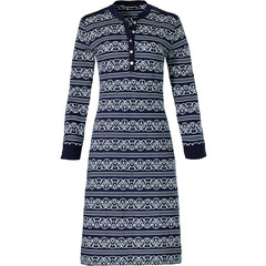 Pastunette Deluxe long sleeve nightdress with buttons 'lined in elegance'