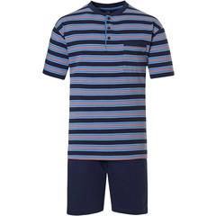 Robson katoenen heren shortama met knopen 'stripes'n'style'