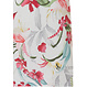 Pastunette Deluxe 'Hawaiian tropical flower' pure white & coral red ladies short sleeve nightdress with an all over pretty 'Hawaiian tropical flower' pattern