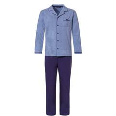 Pastunette for Men doorknoop heren pyjama 'micro dots & cirkels'