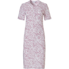 Pastunette ladies short sleeve cotton nightdress with buttons  'animal magic'