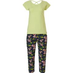 Rebelle short sleeve 3/4 pyjama set 'jungle floral sport it up'