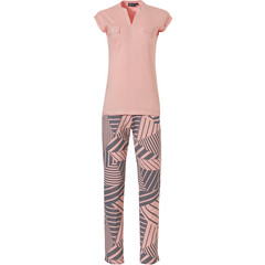 Pastunette Deluxe sleeveless pyjama set 'graphic art stripes'