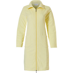 Pastunette ladies lightweight sunshine yellow terry bathrobe with zip & collar