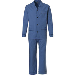 Robson men's woven cotton full button pyjama 'squares & cube'