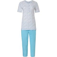 Pastunette katoenen pyjama met korte mouwen en knoopjes 'mysterious cirkels'