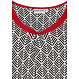 Pastunette Beach 'abstarct holiday palm' pure white, red & black short sleeve beach dress with 'v' neck and a flattering 'twist' detailing at the front - Perfect look for your Summer wardrobe!
