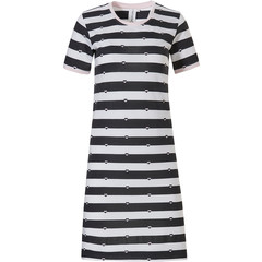 Rebelle stripey short sleeve cotton nightdress '♥ love to ♥ love stripes'