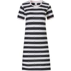 Rebelle stripey short sleeve cotton nightdress '♥ love to ♥ love stripes'