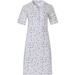 Pastunette ladies short sleeve cotton nightdress with buttons '♥ sweet little lovehearts ♥'