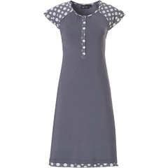 Pastunette Deluxe short sleeve nighdress with buttons 'a bit deeply dotty'