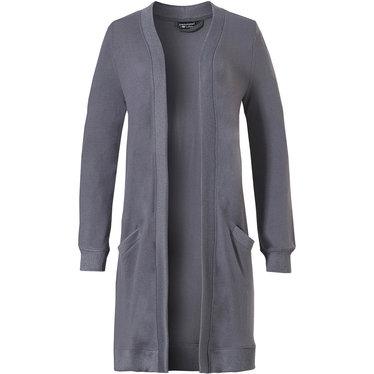 Pastunette Deluxe lounge & relax this Summer in this mid grey long cardigan with cuffs and pockets