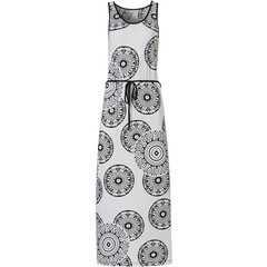 Pastunette Beach sleeveless beachdress with tie-waist 'trendy monochrome circles'
