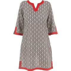 Pastunette Beach woven cotton tunic style dress 'abstract holiday palm'