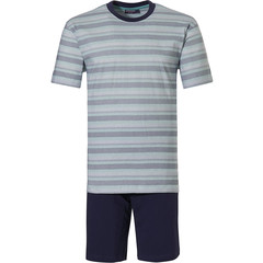 Pastunette for Men katoenen heren shortama 'cool zig zag stripes'