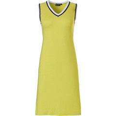 Pastunette Deluxe ladies sleeveless 'v' neck dress '70's retro yellow vibes'