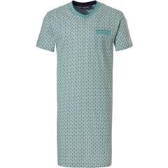 Pastunette for Men katoenen heren nachthemd 'symmetrische moderne print'