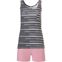 Rebelle sleeveless shorty set 'just the code'