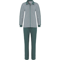 Pastunette sage green lounge-style homesuit with zip 'perfect horizontal lines'