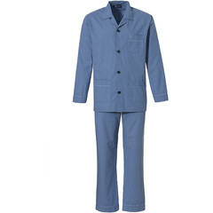 Robson men's woven cotton full button pyjama 'neat squares'