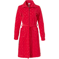 Rebelle red terry morninggown wih full zip '♥ little sweethearts ♥'