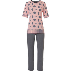 Pastunette Deluxe short sleeve pyjama set 'oval dots & stripes'
