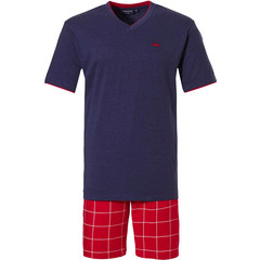Pastunette for Men heren pyjama 'cool red shark, check it out'
