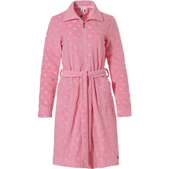 Rebelle pink terry morninggown wih full zip '♥ little sweethearts ♥'