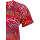 Pastunette 'pretty passion red' red short sleeve cotton shorty set with an all over leafy pattern and matching shorts