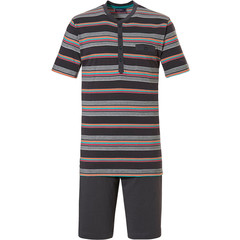 Pastunette for Men 'multi stripes' mens cotton shorty set