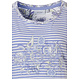 Pastunette 'stripes & paisley dreams' white & pale blue short sleeve organic cotton nightdress with stripes and an all over paisley print picture pattern