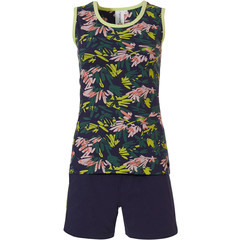 Rebelle sleeveless shorty set 'jungle floral sport it up'