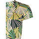 Pastunette Beach 'abstract palms' lime green & forest green short sleeve 'v' neck beach dress with a flattering wrap -over look and tie-waist belt - Perfect look for your Summer wardrobe!