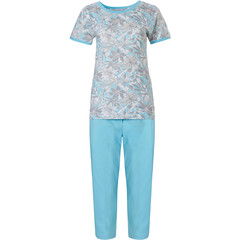 Pastunette short sleeve cotton pyjama set 'floral dream garden'