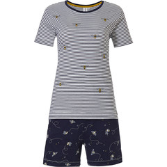 Rebelle Girls stripey short sleeve cotton girls shorty set 'buzzy honeybees'