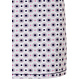 Pastunette 'circles & dots' pink, white & blue short sleeve cotton nightdress with 5 buttons and chest pocket